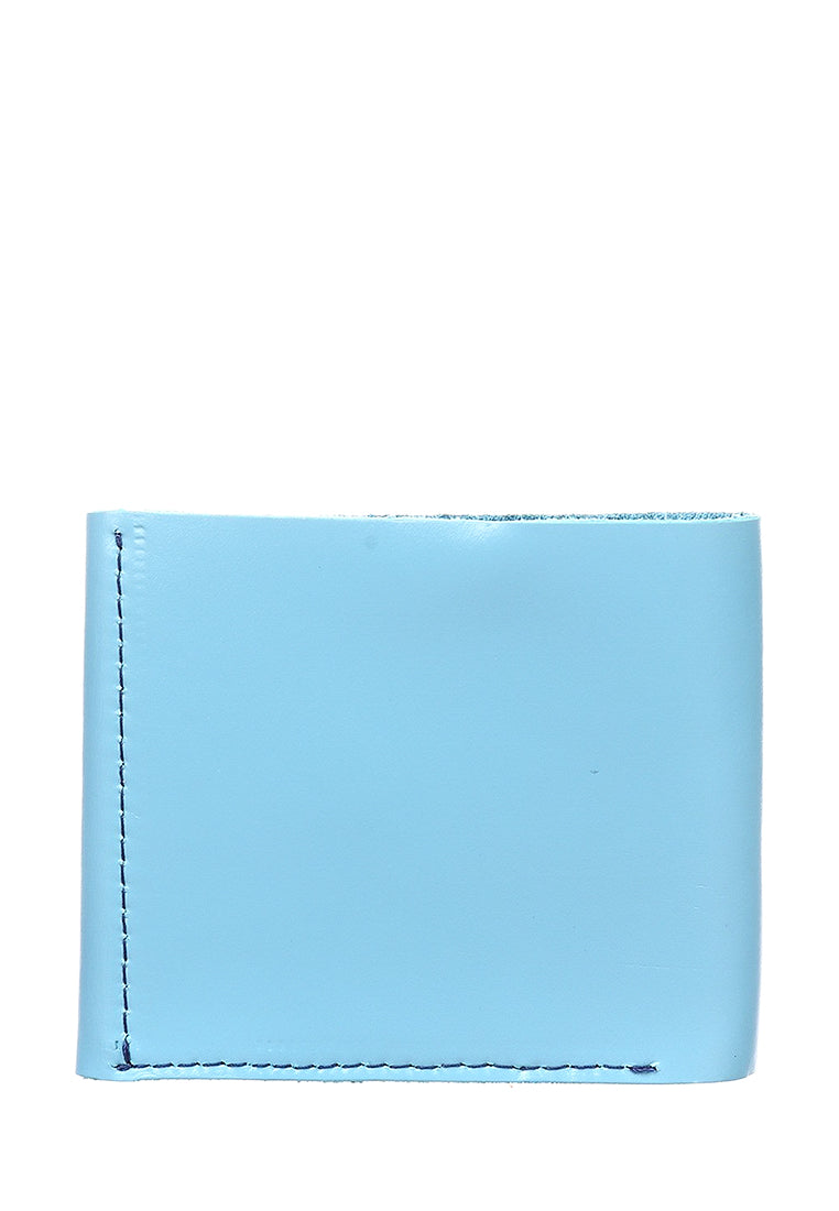 Blue leather wallet - 3