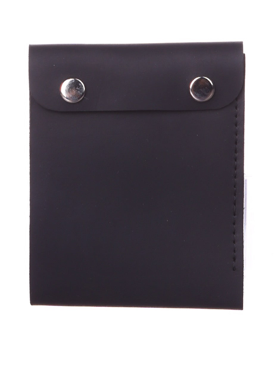 Genuine leather slim wallet black - 1