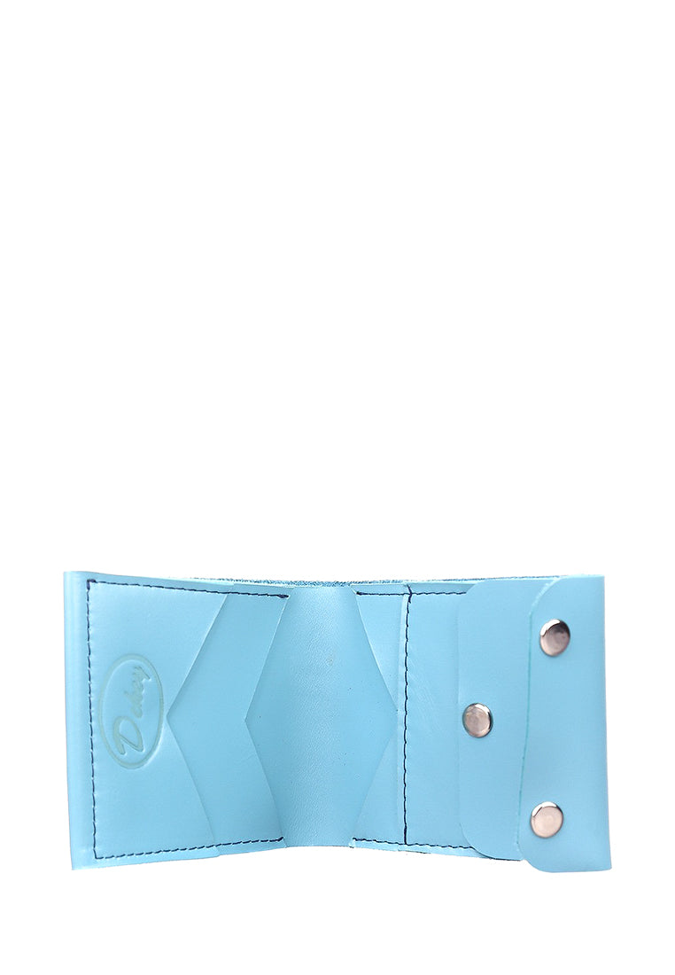 Blue leather wallet - 2