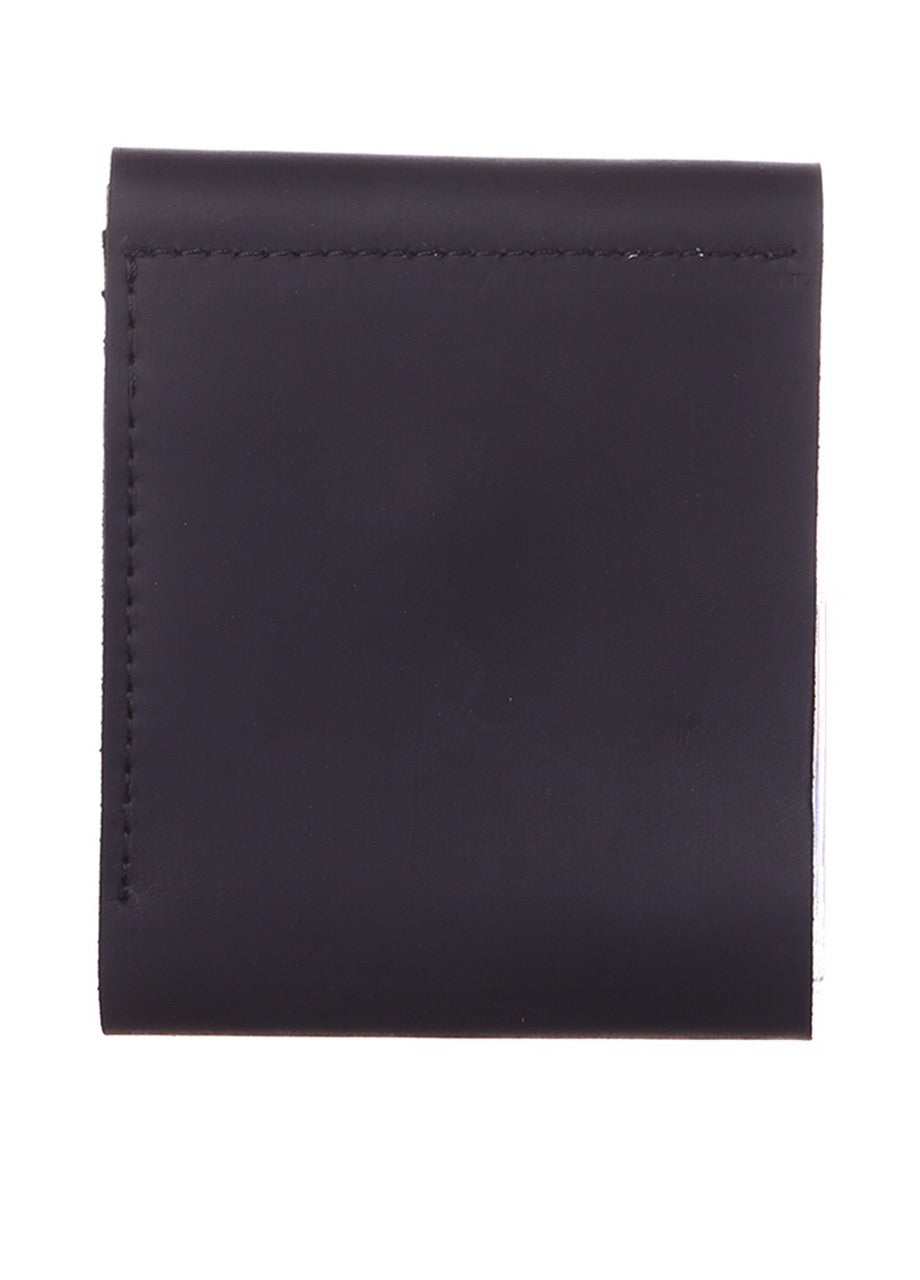 Genuine leather slim wallet black - 2