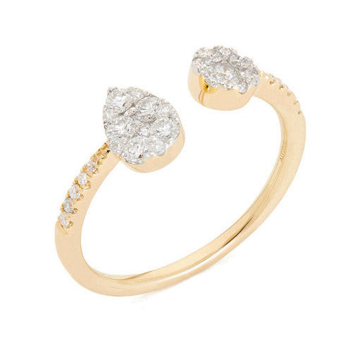 Round open ring with diamonds - 1