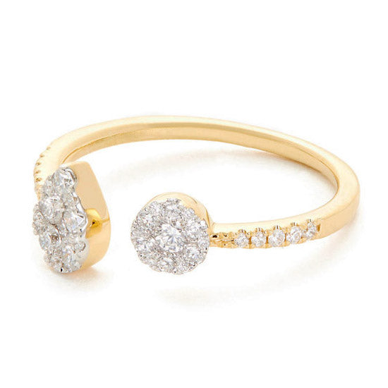 Round open ring with diamonds - 3
