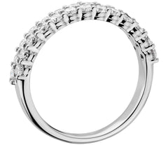 Ladies wide diamond wedding band 1.150 carat - 2