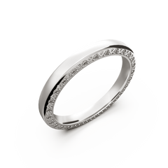 White gold diamond wedding band for her 0,224 carat - 1