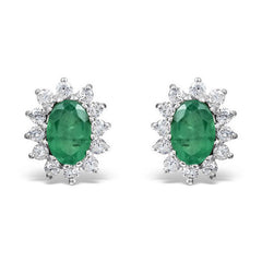 Gold emerald earrings - 1