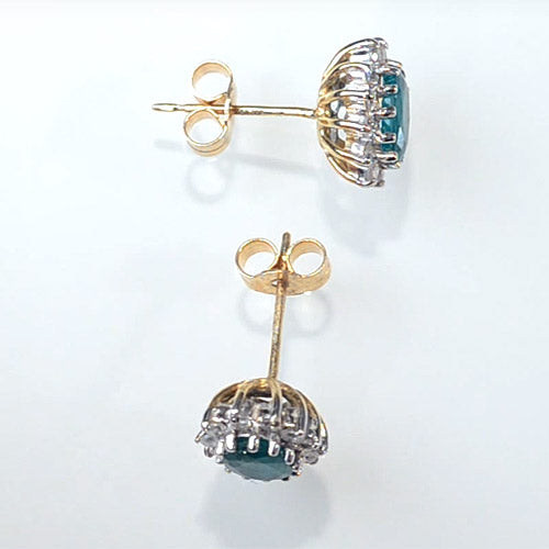 Gold emerald earrings - 3