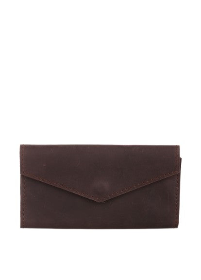 Red genuine leather bifold - 7