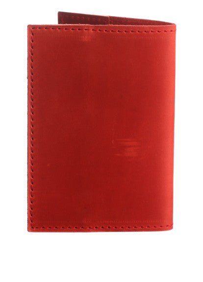 Red leather passport holder - 2