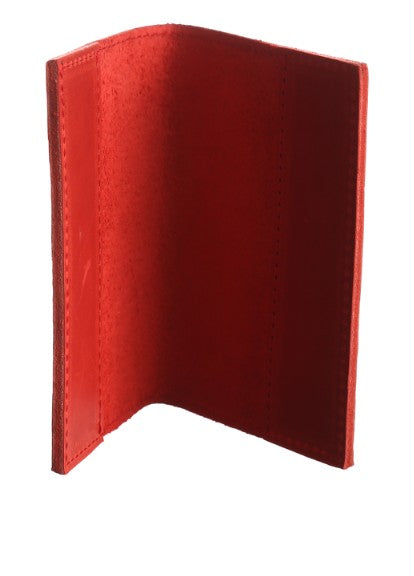 Red leather passport holder - 3
