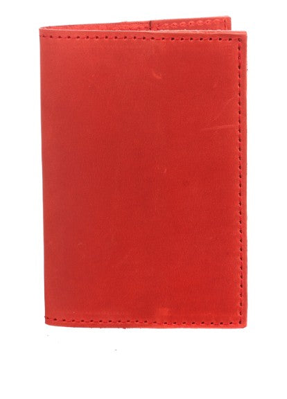 Red leather passport holder - 1