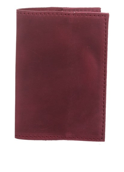 Red leather passport holder - 4