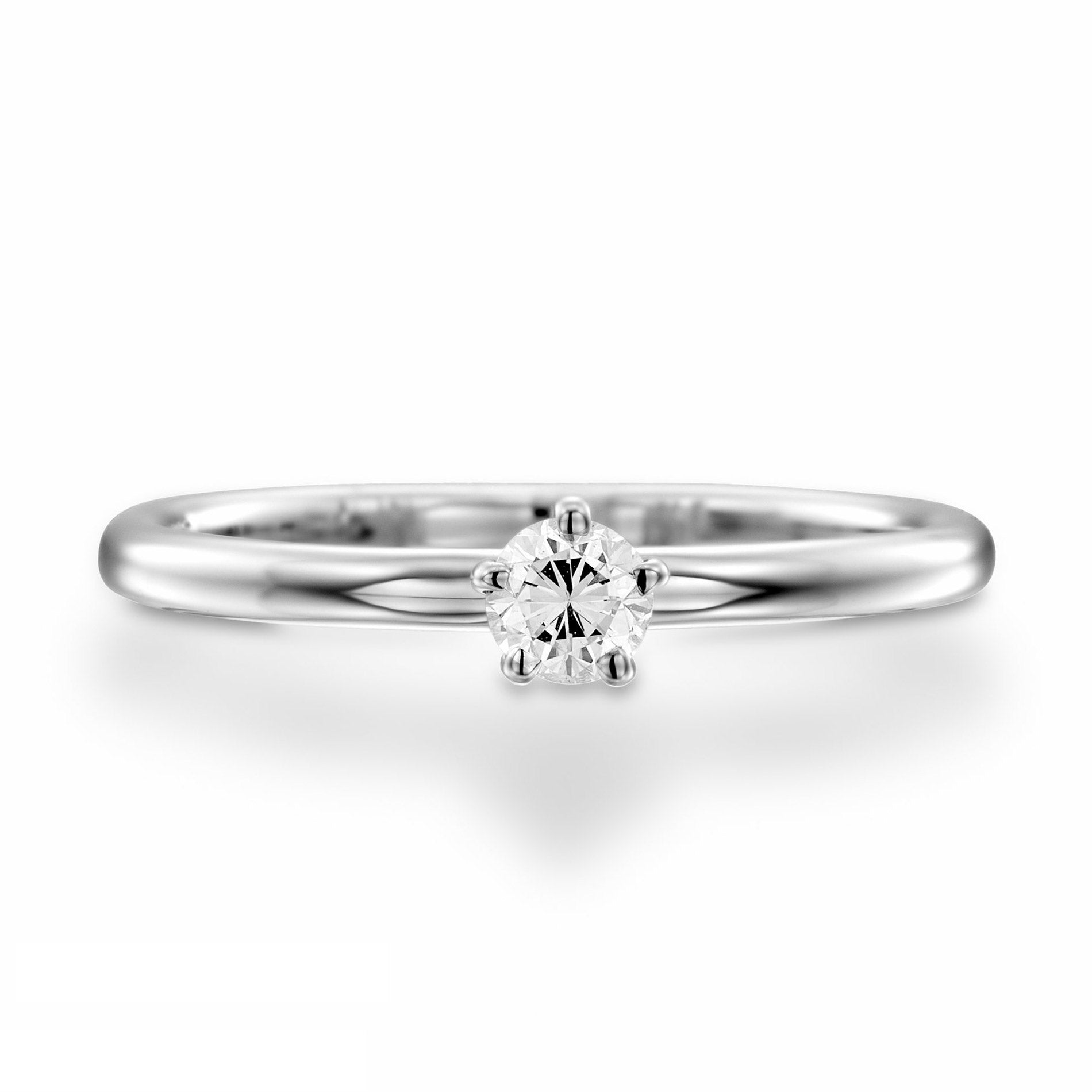 Simple diamond gold ring 0.4 carat - 1