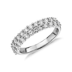 Ladies wide diamond wedding band 1.150 carat - 1