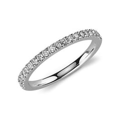 Ladies diamond wedding ring in white gold 0.330 carat - 1