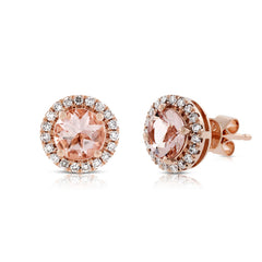 Morganite studs earrings set - 1