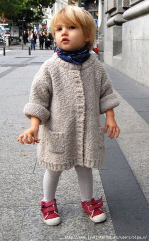 Baby cardigan sweater with pockets