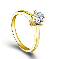 Round cut engagement diamond ring - 2