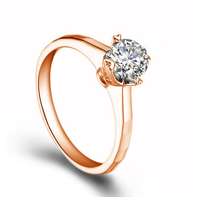 Round cut engagement diamond ring - 3