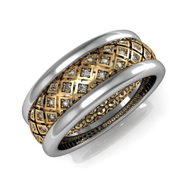 A Band For Women With White And Black Diamonds 1