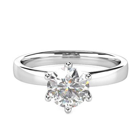 Gold diamond engagement ring 0.500 carat
