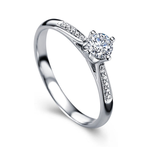 Diamond engagement band for women