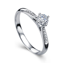 Diamond engagement band for women - 1