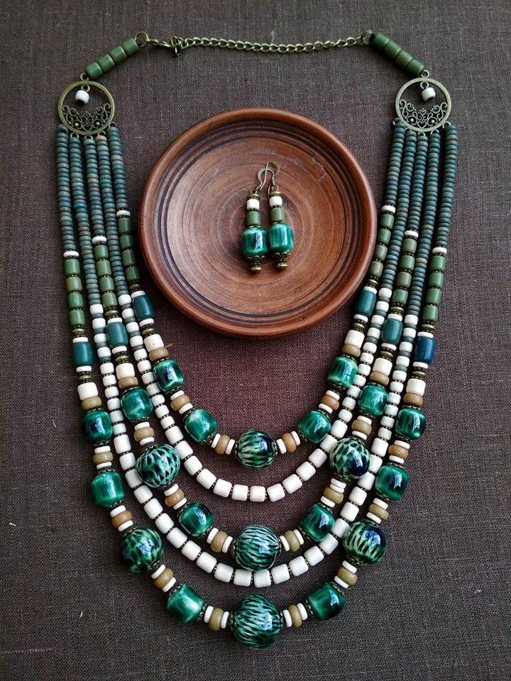 Chunky bead necklace - 3