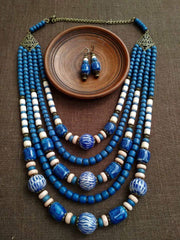 Chunky bead necklace - 1