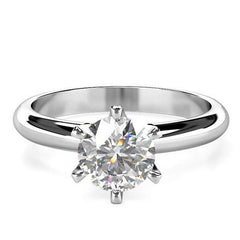 Women's diamond band ring 1 carat - 1