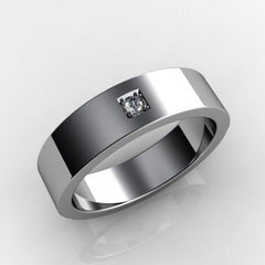 White gold wedding ring for her - 1
