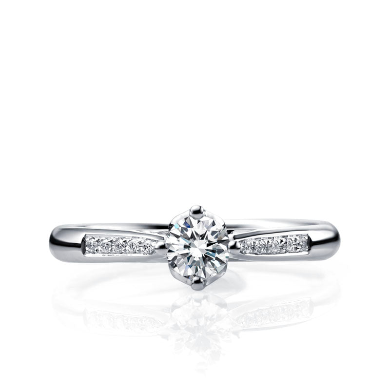 Diamond engagement band for women - 2
