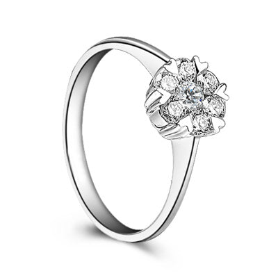 Women's diamond ring flower