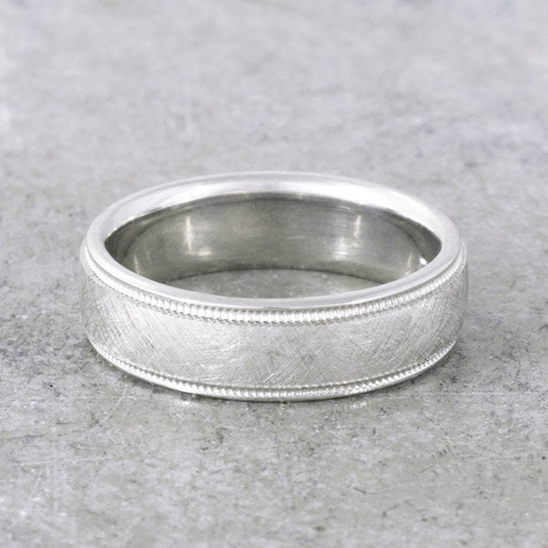 Textured gold ring for men - 2