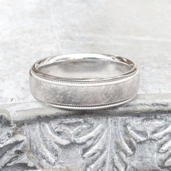 Textured gold ring for men - 3