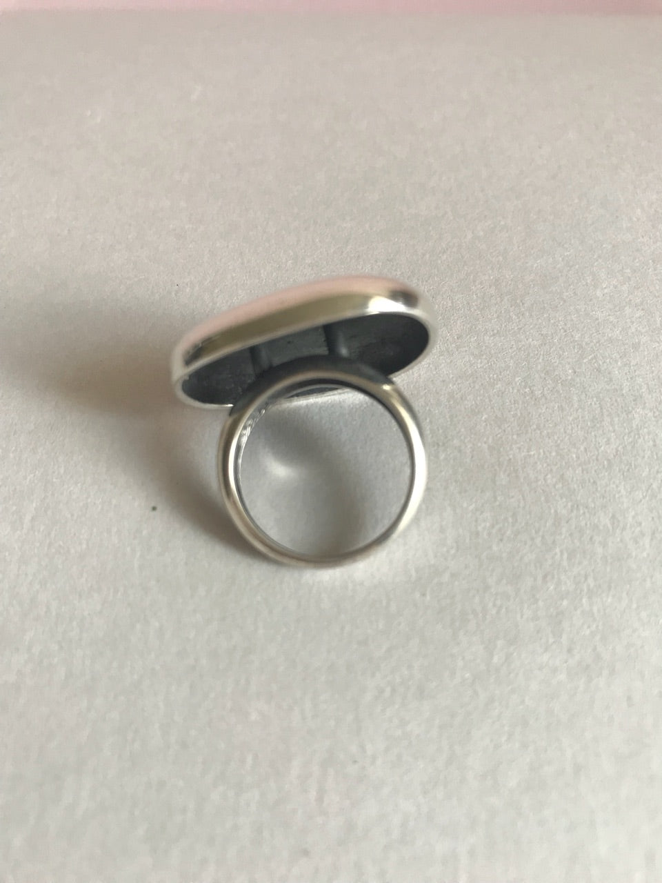 Chunky silver ring for women - 4