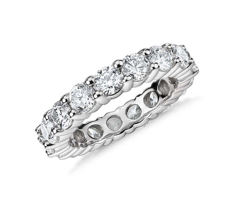 Round eternity ring for women