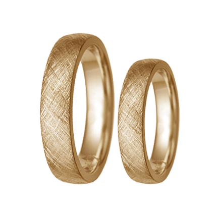 Texture patterned weding rings set - 2