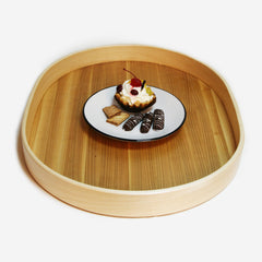 Oval serving wooden tray - 1