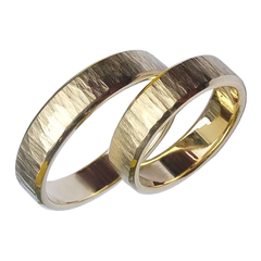 Thin gold wedding bands - 1