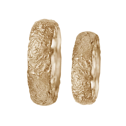 Ancient style weding band set - 2