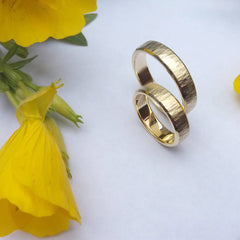 Thin gold wedding bands - 2