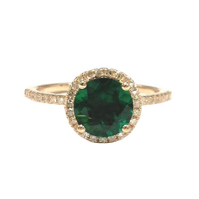Green topaz halo ring