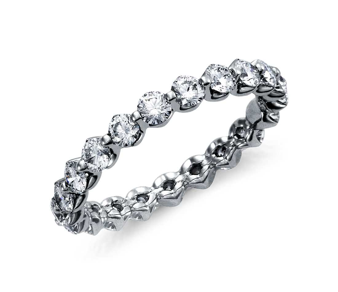Floating oval diamond ring - 1