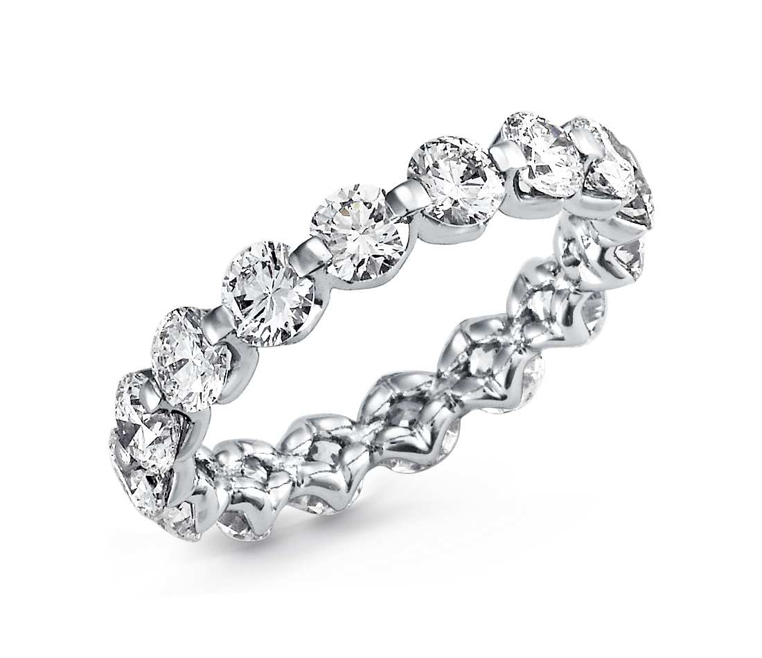 Diamond eternity ring for women - 1