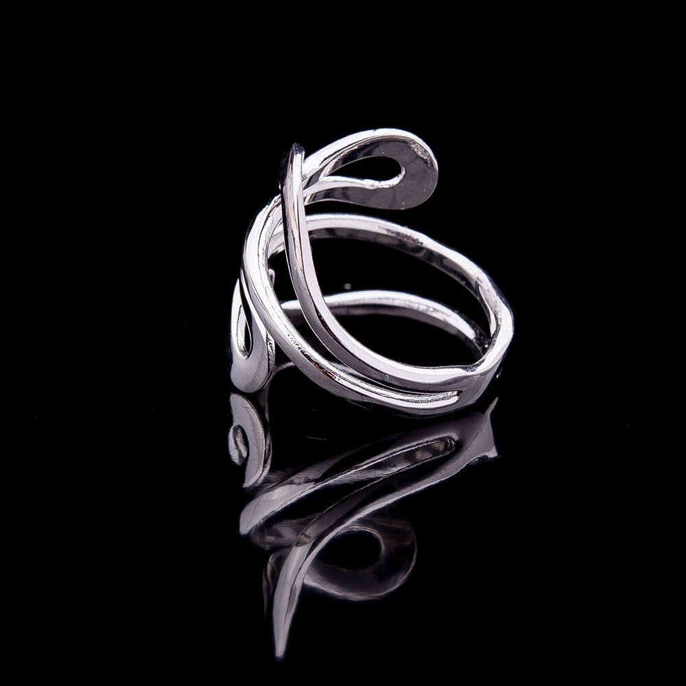Coiled silver ring - 3