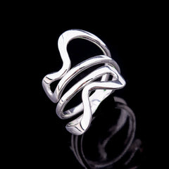 Coiled silver ring - 1