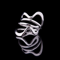 Coiled silver ring - 2