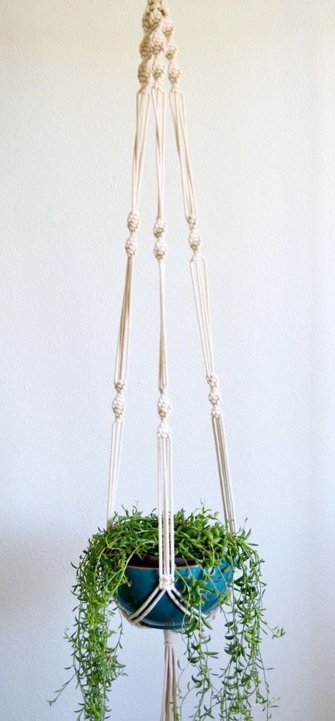 Cotton rope plant hanger - 1