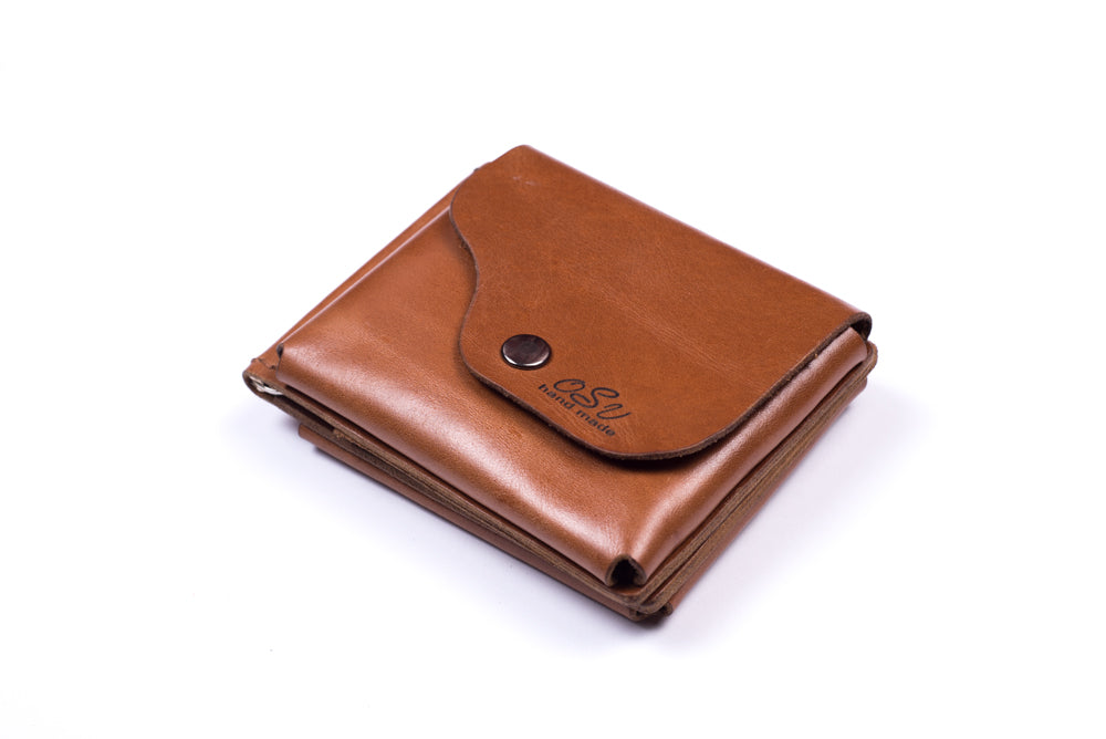 Men's brown wallet - 1