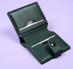 Green leather wallet - 2